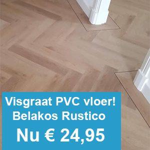 Belakos Rustico Visgraat PVC vloer